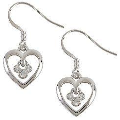 Heart Mickey Mouse Earrings by Arribas