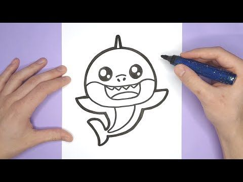 PINKFONG DRAWING - How to draw a cute Baby shark - YouTube | Baby ...