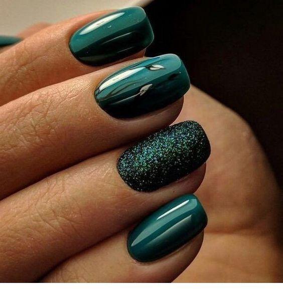 Cute Dark Green Nails Miladies Net Green Nail Designs Matte Nails Design Green Nails