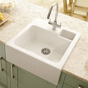 kitchen sinks wickes wickes single bowl butler ceramic sink white kitchen 3069