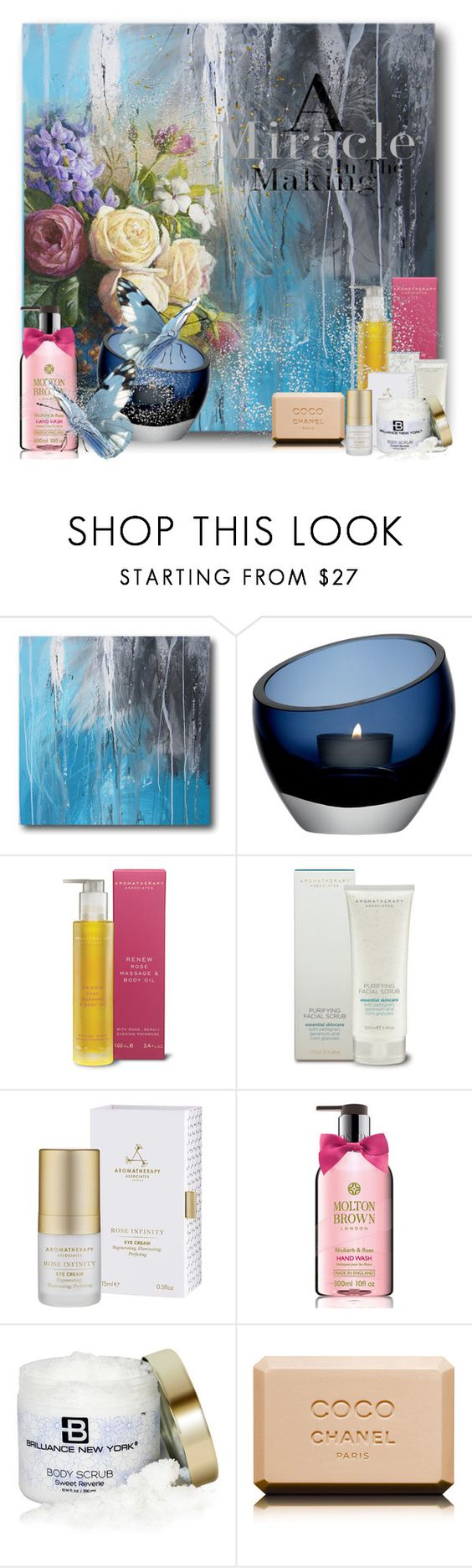 """Skin Care!!"" by eco-art ❤ liked on Polyvore featuring beauty, LSA International, Aromatherapy Associates, Molton Brown, Brilliance New York and Chanel"