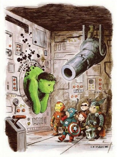 Very cute Winnie the Pooh/Avengers mashup. I still maintain that Wasp and Ant Man should be in these instead of Black Widow and Hawkeye (much as I love Clint), but what are you gonna do?