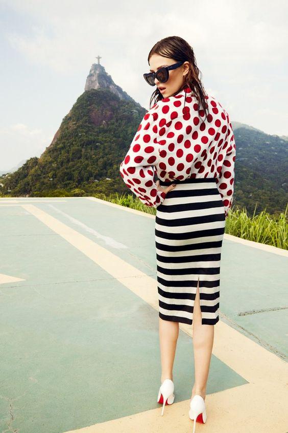 Polka Dot Stripes Fashion