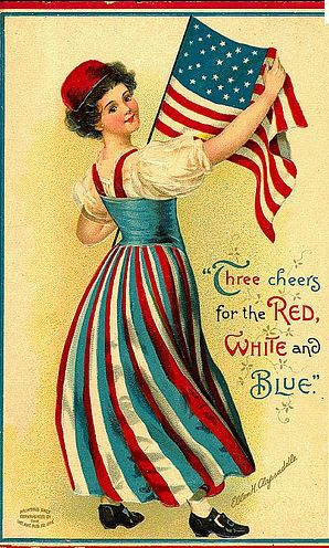 vintage fourth-of-july postcard                              …                                                                                                                                                                                 More: