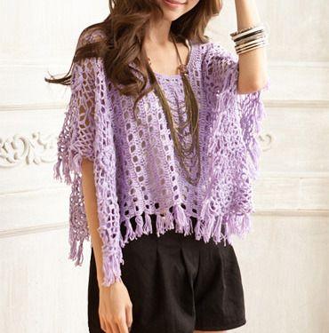 Púrpura / blanco / albaricoque luz ahueca hacia fuera las mujeres del capote del suéter SW030
