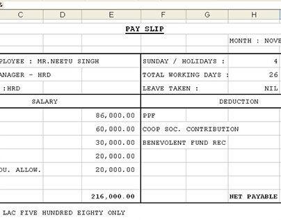 Salary Slip Format 8 Cash Salary Slip Format PdfTemplate For – Salary Slips Format