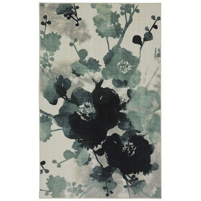new wave stream of blues water printed area rug | shops, maison et