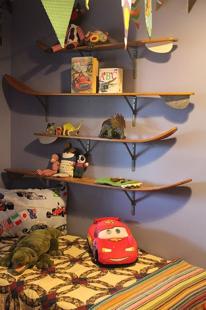 Water Ski Shelf | Water~Ski Shelves For Our Picket Fence Boy.