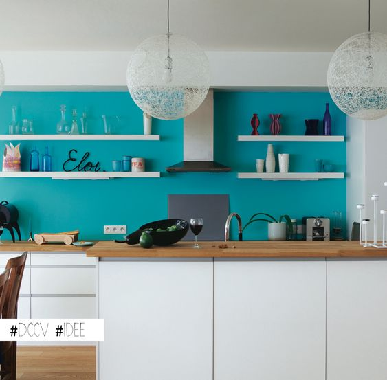 Pinterest le catalogue d 39 id es for Cuisine blanche et bleu