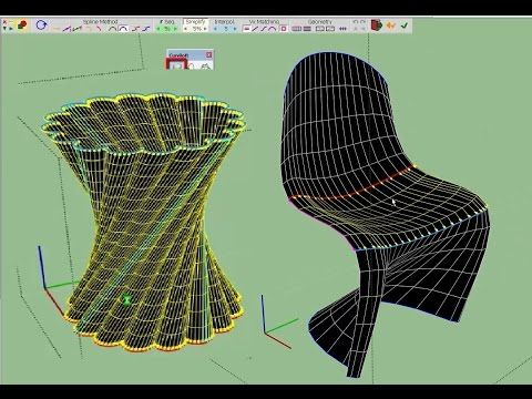 How To Use Curviloft Plugin In Sketchup Complete Video Youtube