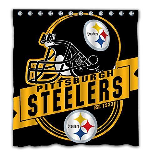 Pittsburgh Steelers Waterproof Shower Curtain Bathroom Decor Colors Pittsburgh Steelers Bathroom Colors