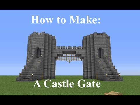 Minecraft How To Build A Castle Gate Fast And Easy Youtube