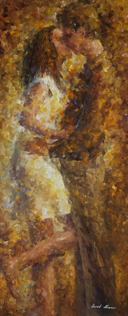 Lsdt Kiss 2 Palette Knife Oil Painting On Canvas By