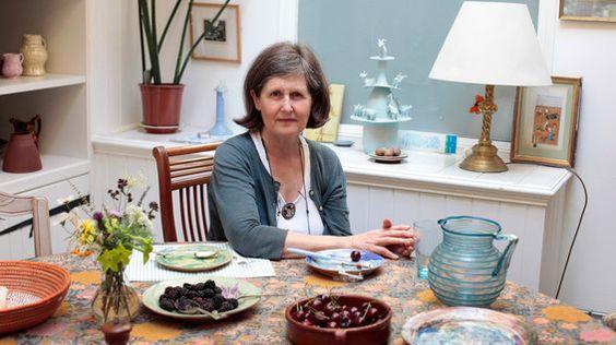 Marcia Blakenham at her dining table.