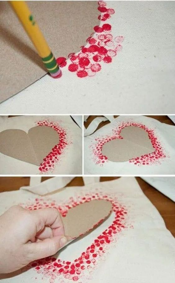 Valentines Day kids art kit DIY kids art