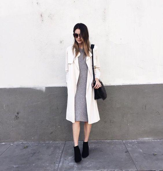 Pin for Later: Diese Jacken und Mäntel lassen sich perfekt zu Party-Kleidern kombinieren Ein klassischer Trenchcoat