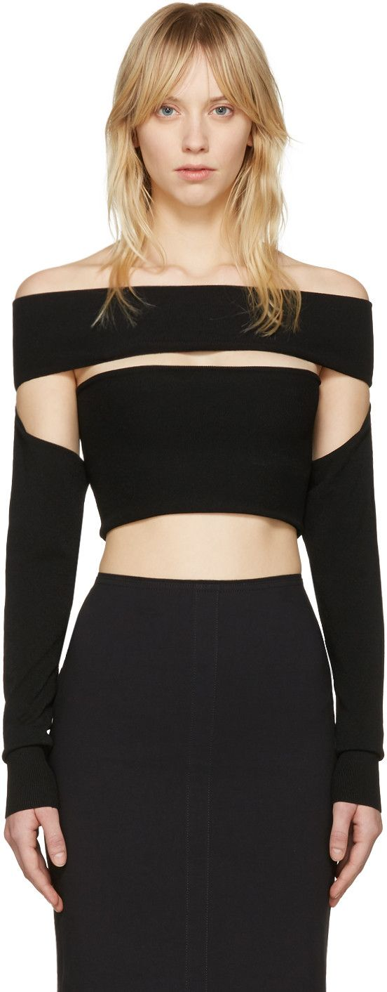 Black Bandeau Off-the-Shoulder Dress Alexander McQueen Under Sale Online Outlet Low Cost Sale For Nice Original Clearance Latest Collections fmgbNcIwQ