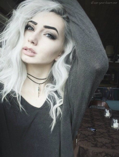white hair girl tumblr google pretraživanje hair