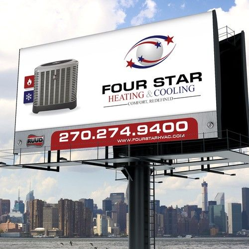 Hvac Billboard We Install And Service Heating Cooling Equipment