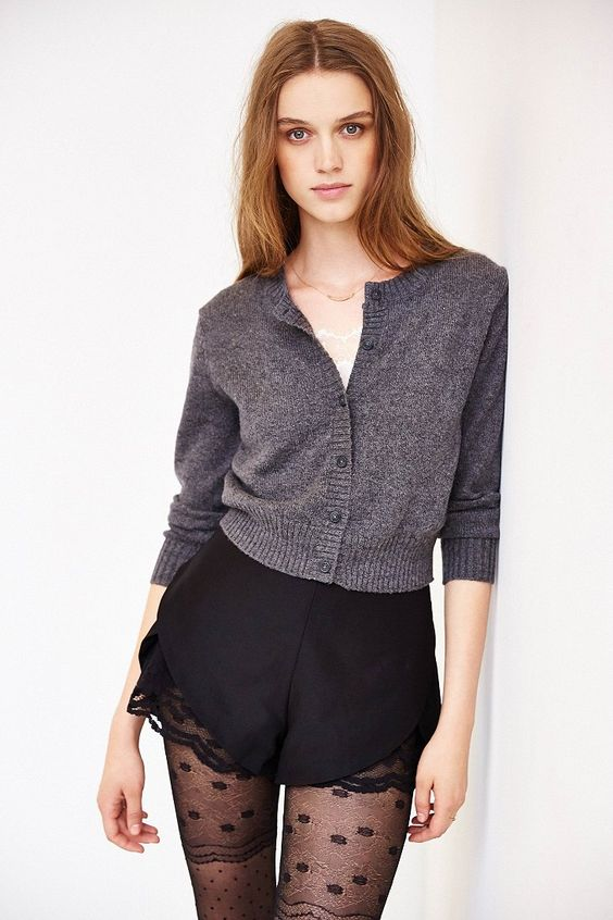 Cooperative Cropped Cardigan - Urban Outfitters