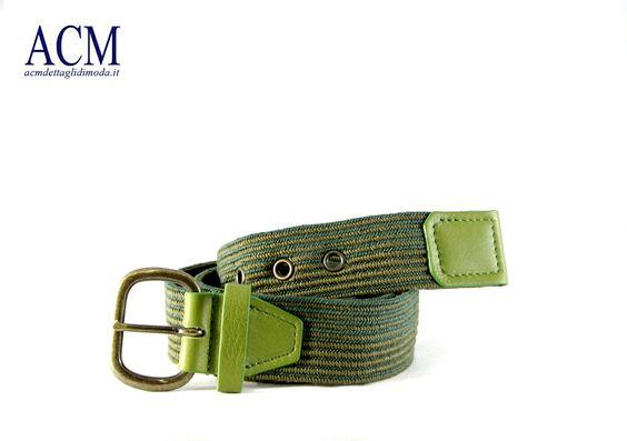 Cintura uomo in nastro bicolore con occhielli e dettagli in vera pelle #leather #cotton   #vintage #belt