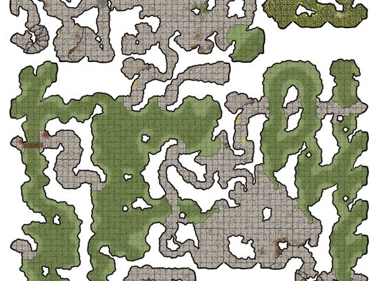 """[Free] Random """"Cave"""" Map Generator. Generate a high quality cavernous map with only a few clicks of the mouse.  http://www.curufea.com/games/roguelike/map.php"""