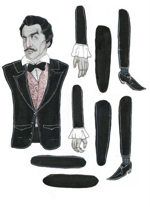 Vincent Price paper doll