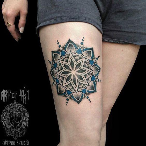 WEBSTA @ md_mironenko - #tattoo #dotworktattoo #mandala #ornamentaltattoo #ornamental