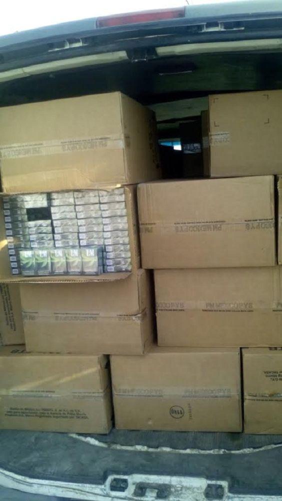En Coronango decomisan 38 cajas de mercancía de dudosa procedencia