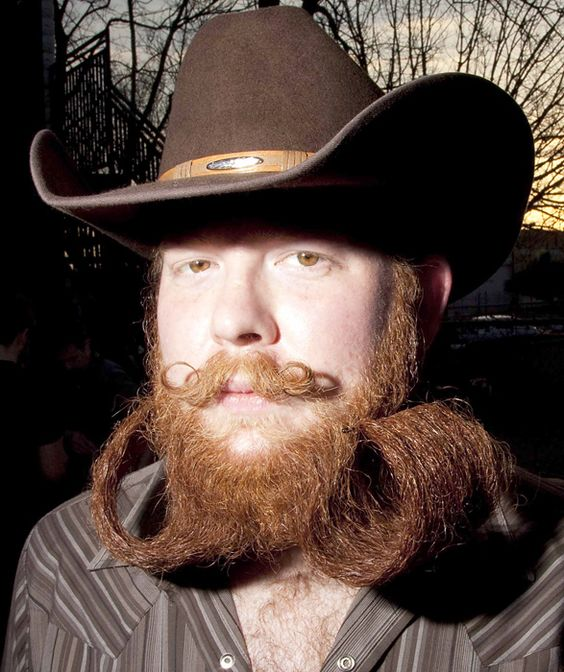 Competitive facial hair growing