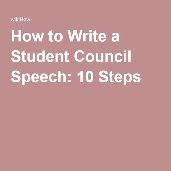 how to write a vice president election speech for school