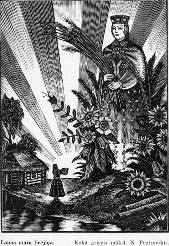 "Illustration for Latvian folk song collection ""Dainas"""