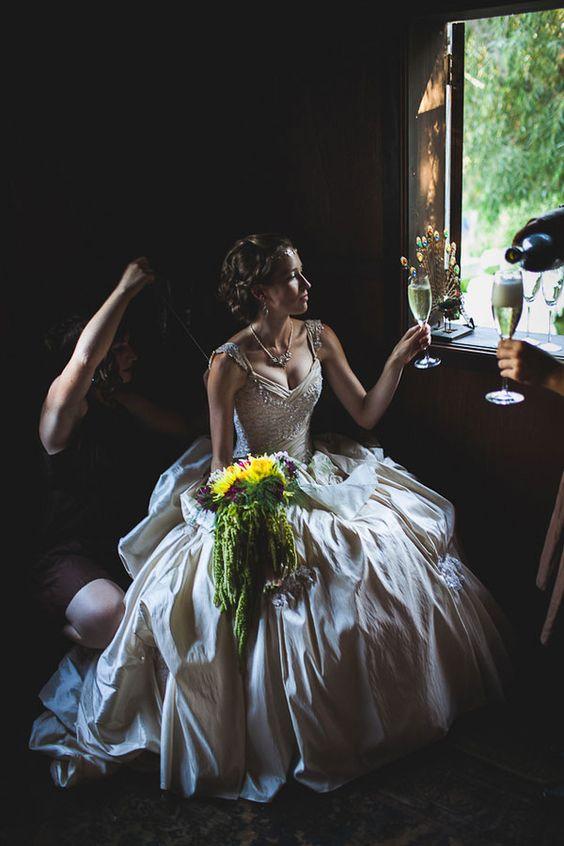 Modern Day Medieval Wedding Featuring Peacocks, Jugglers, & Thrones