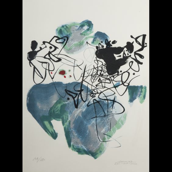 CHU TEH CHUN. La Paix Universelle, lithograph #expertissim