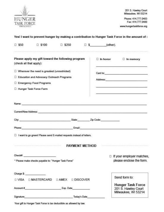 6 Charitable Donation Form Templates