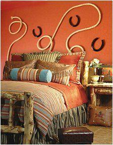 Gemma (my little Texan) wants a cowgirl room - love this wall art idea!