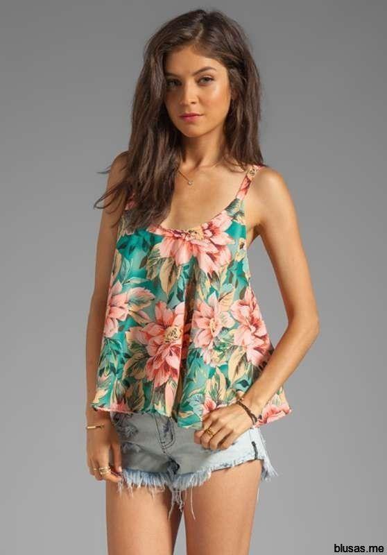 blusas de moda 2014 floreadas - Buscar con Google