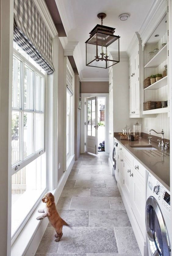 Puppy And Laundry Room Long Narrow Kitchen Mudroom Laundry Room