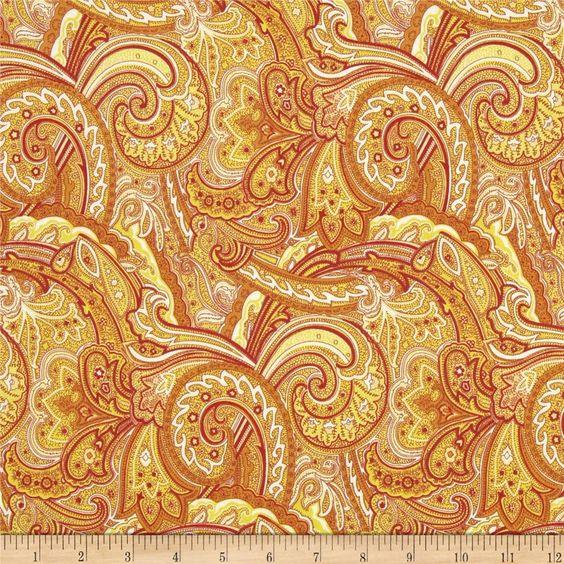 Paisley, Home Decor Colors And Print Fabrics On Pinterest