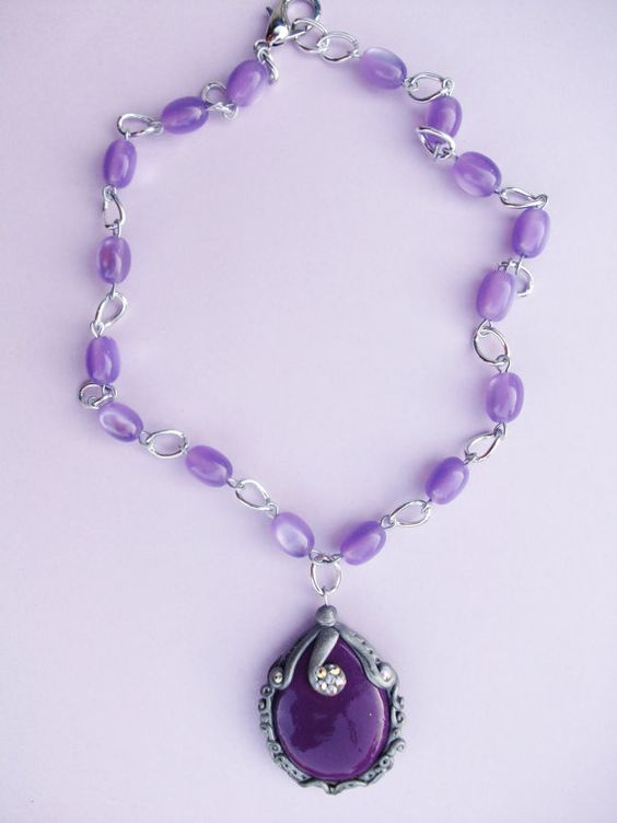 Sofia the first  amulet  necklace by crystalnruby on Etsy, $12.00