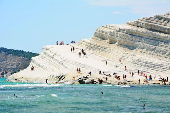 Escalera de Turquía Sicilia Italia #Paisajesimpres...