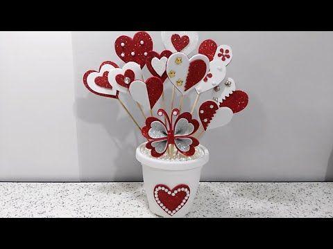 احلى هدية وتنفع لاي مناسبة من بقايا الفوم عمل يدوي بسيط و جميل ديكور Diy A Nice Gift Youtube Flower Diy Crafts Valentines Diy Flower Vase Diy