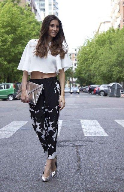 Look: crop top y pants Zara - somethingintheway - Trendtation