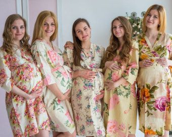 Bridesmaids Robes Kaftans Hospital Gowns and more von silkandmore