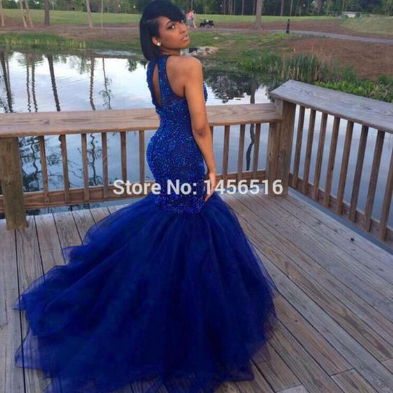 Dark Blue Prom Dresses 2016 Sexy Back Mermaid Style Hard Beadings Evening Party Gowns Indian Wholesale Vestido De Festa For Women Special Prom Dresses Plus Size Prom Dresses Under 200 From Firstladybridals, $132.69  Dhgate.Com