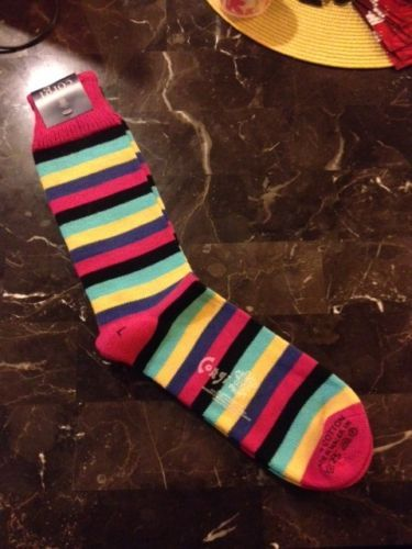 Men's Colorful Corgi Luxury Striped Socks - Made in the UK