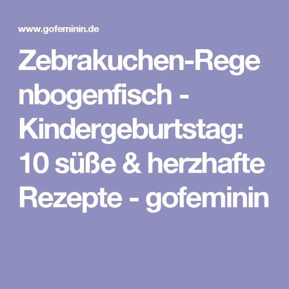 Zebrakuchen-Regenbogenfisch - Kindergeburtstag: 10 süße & herzhafte Rezepte - gofeminin