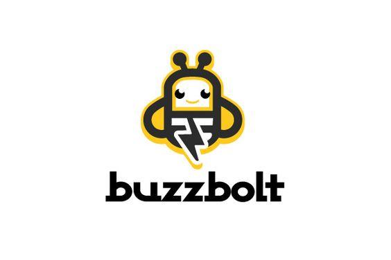 Buzz Bolt Electric bolt bee logo on Logoturn