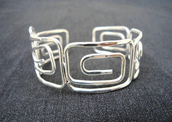 Wire Jewelry Wire Wrapped Bracelet Silver Plated Fashion by Jugosa, $16.00