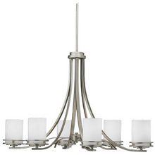 View the Kichler 1673 Contemporary / Modern Six Light Up Lighting Chandelier from the Hendrik Collection at LightingDirect.com.